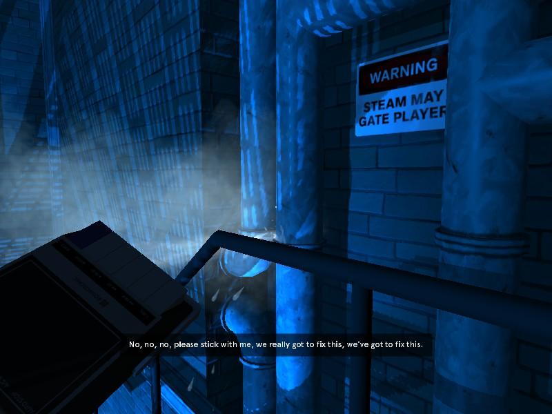 """""""PELIGRO: El vapor podría detener al jugador"""